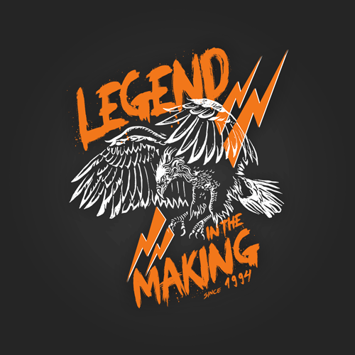 100% cotton Legend in the making graphic printed black color tshirt